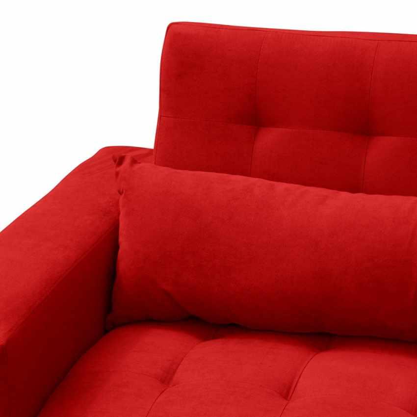 Divano letto 2 3 posti con cuscini schienale reclinabile quarzo - Schienale divano letto ...