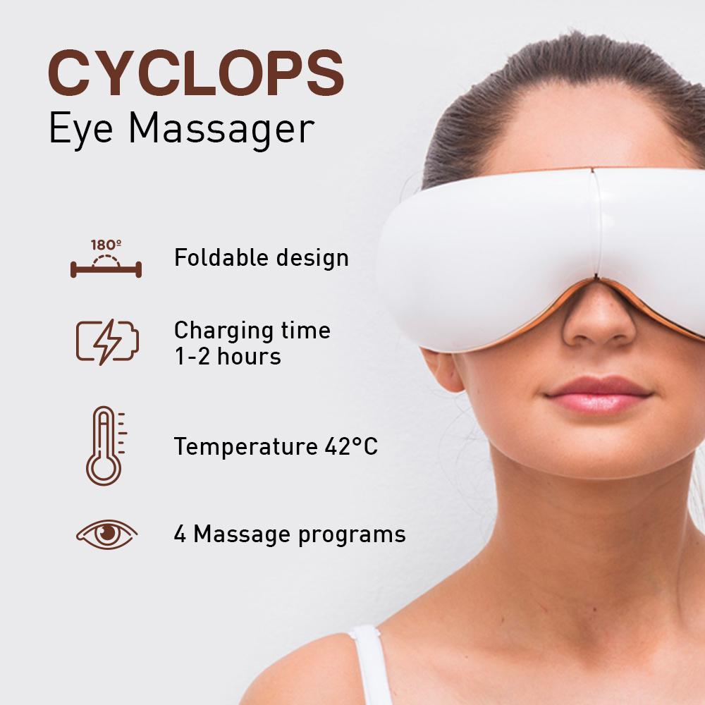 Massaggiatore Per Occhi Multifunzione Ricaricabile USB Bluetooth Cyclops