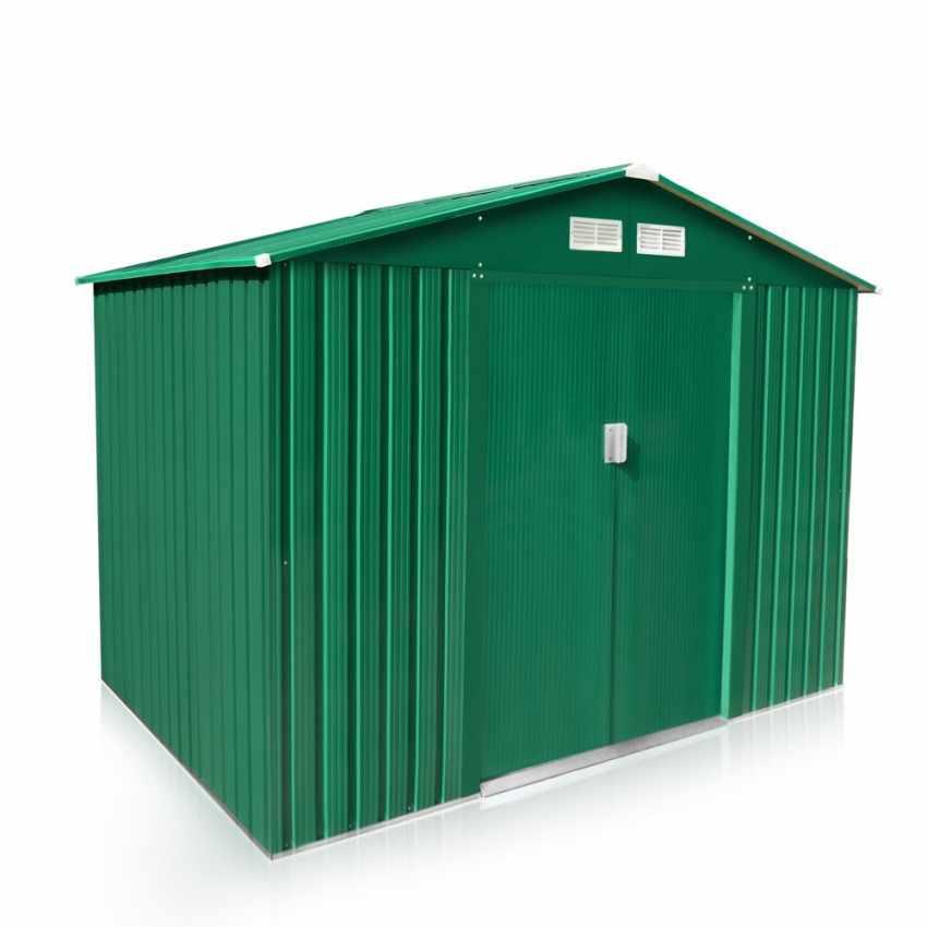 Casetta box per giardino in lamiera zincata per attrezzi for Box lamiera offerte