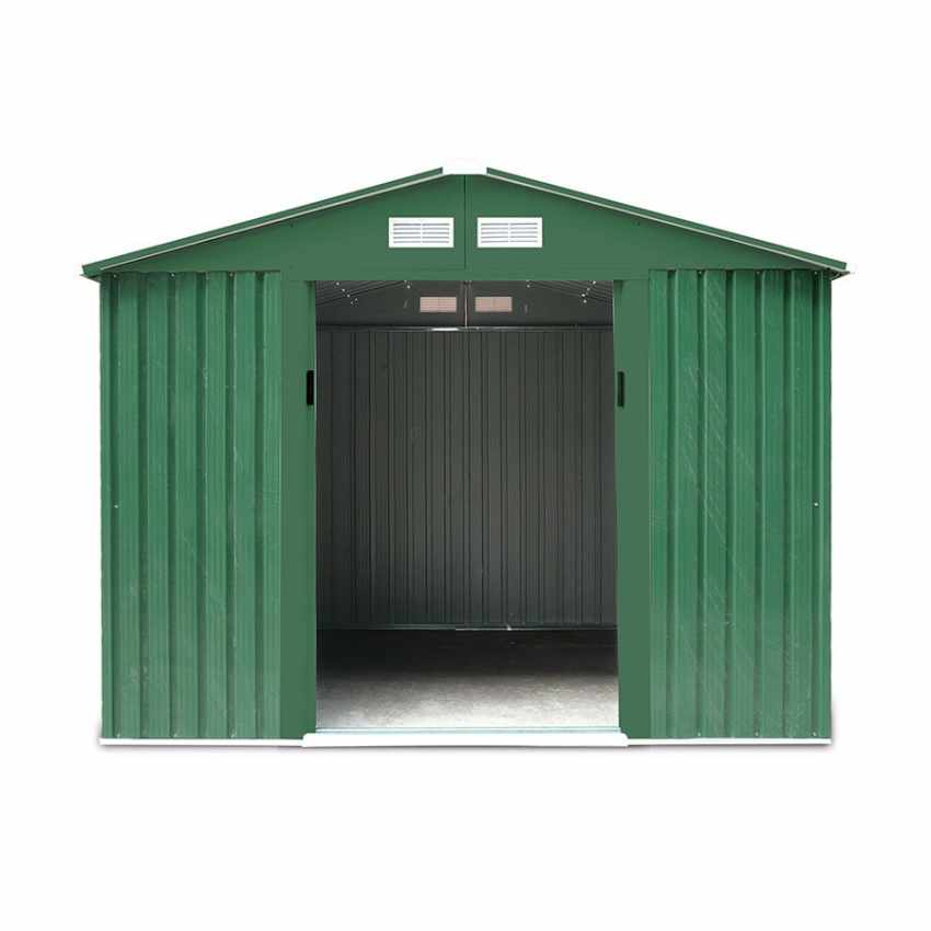 Abri de jardin box metal vert rangement outils Cabane metal galvanisé LARGE