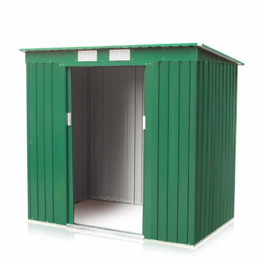 Box in lamiera zincata verde casetta giardino attrezzi ripostiglio MEDIUM - outdoor