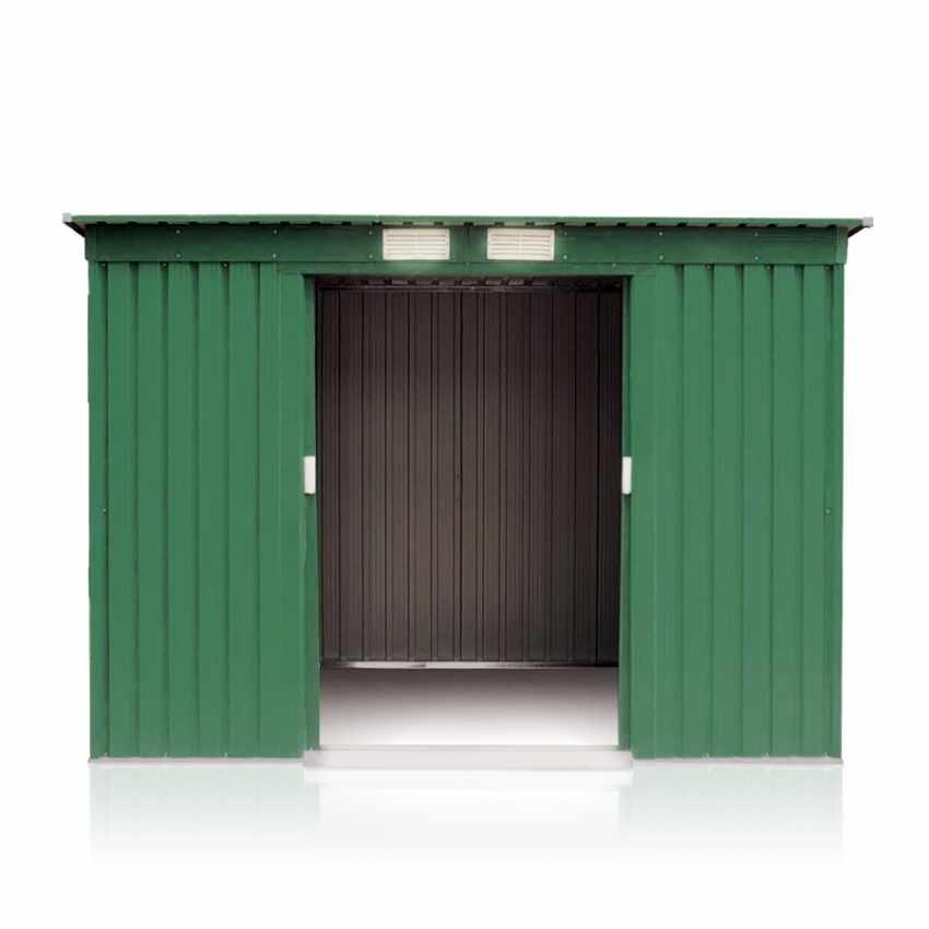 Box in lamiera zincata verde casetta giardino attrezzi ripostiglio MEDIUM - forniture
