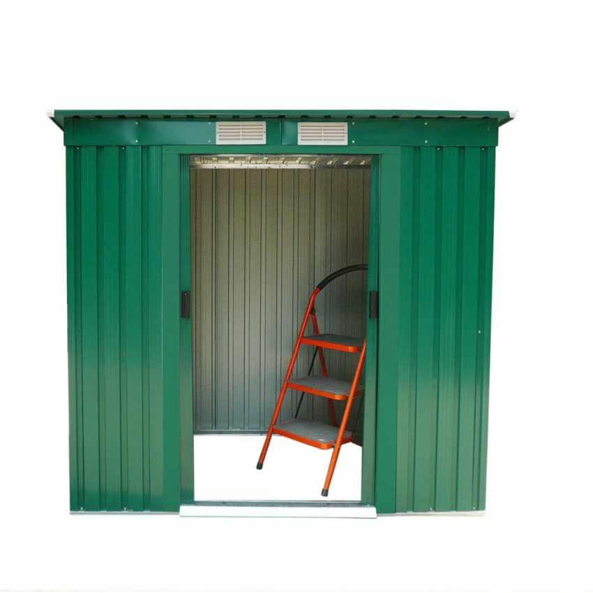 Box in lamiera zincata verde casetta giardino attrezzi ripostiglio MEDIUM - image