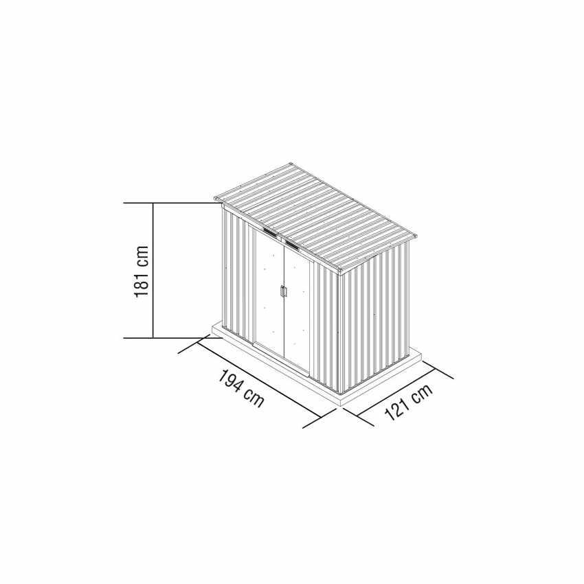 Box in lamiera zincata verde casetta giardino attrezzi ripostiglio MEDIUM - price