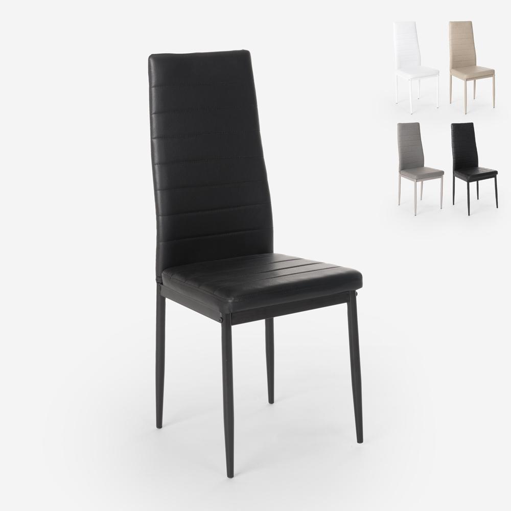 Sedie design moderno similpelle imbottita sala da pranzo ristorante Imperial