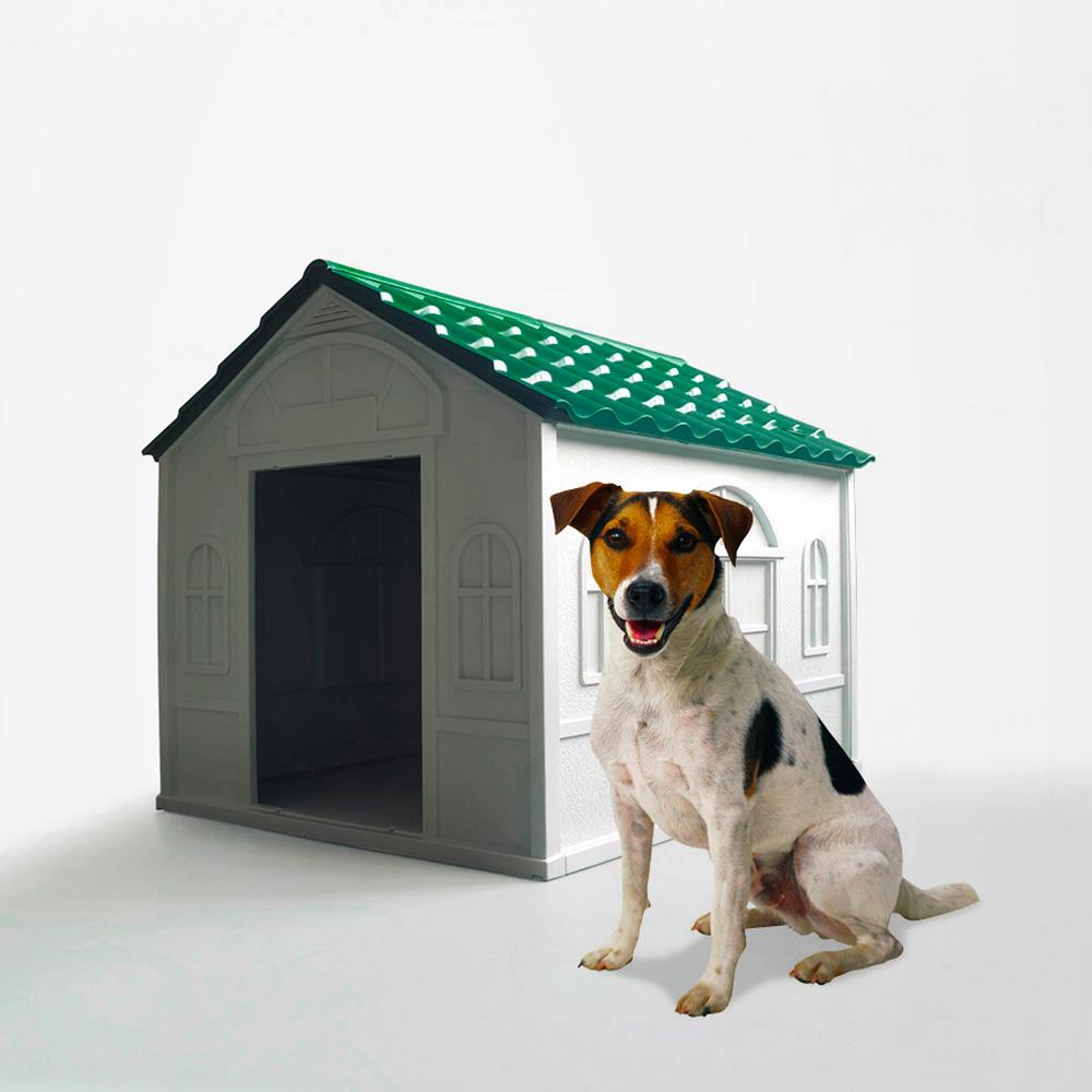 Casetta cuccia per cani di taglia media in plastica giardino Milo
