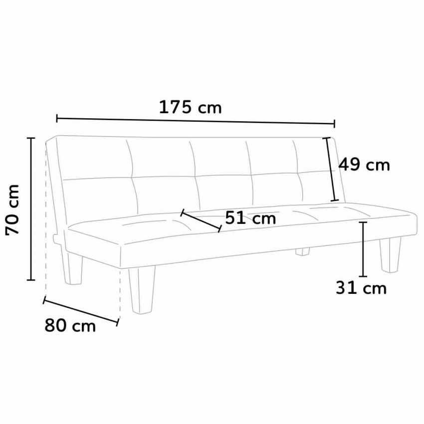 Canapé Clic Clac convertible 2 places microfibres ONICE pour la maison et salles d'attente - new