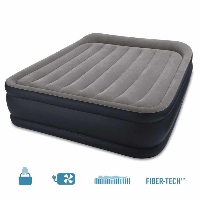 Matelas lit d'appoint gonflable double électrique lit de camp portable Intex 64136 - nuovo