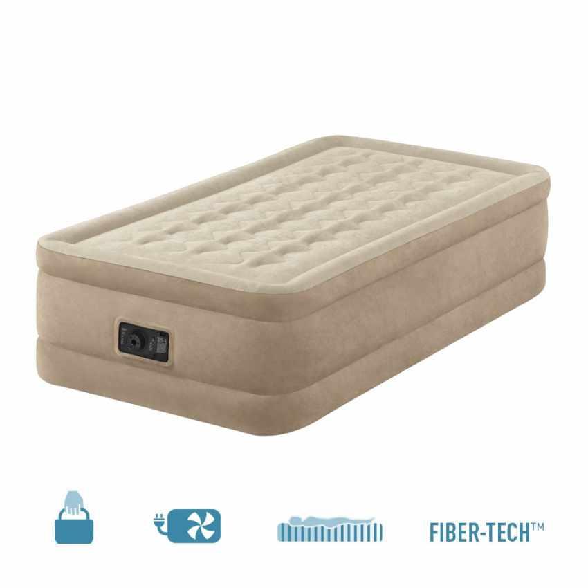 Matelas Gonflable 1 Personne Confort avec Pompe Intégrée Intex 64456 - interno