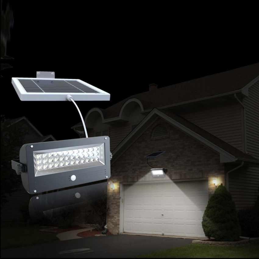 Faretto a Energia Solare LED con Sensore Crepuscolare SUNLIGHT - scontato