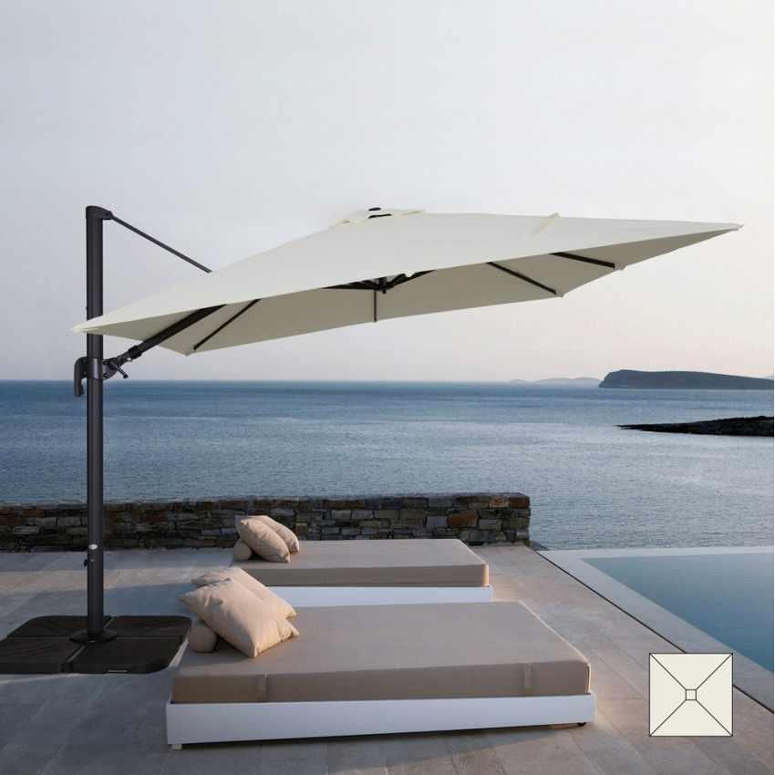 Ombrellone giardino 3x3 braccio alluminio quadrato bar hotel VIENNA - offert