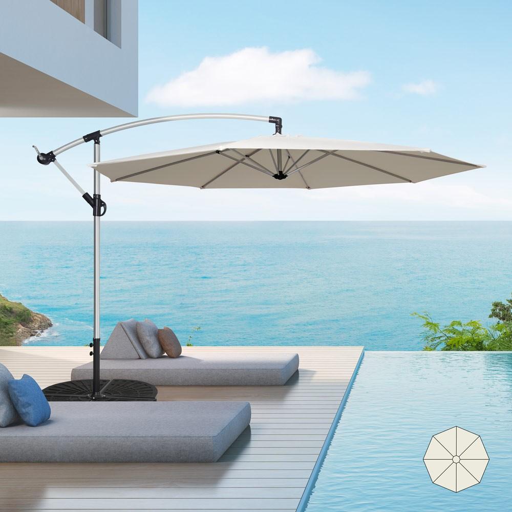 GA300UVA - Ombrellone giardino 3 metri braccio decentrato alluminio ottagonale bar hotel Fan -