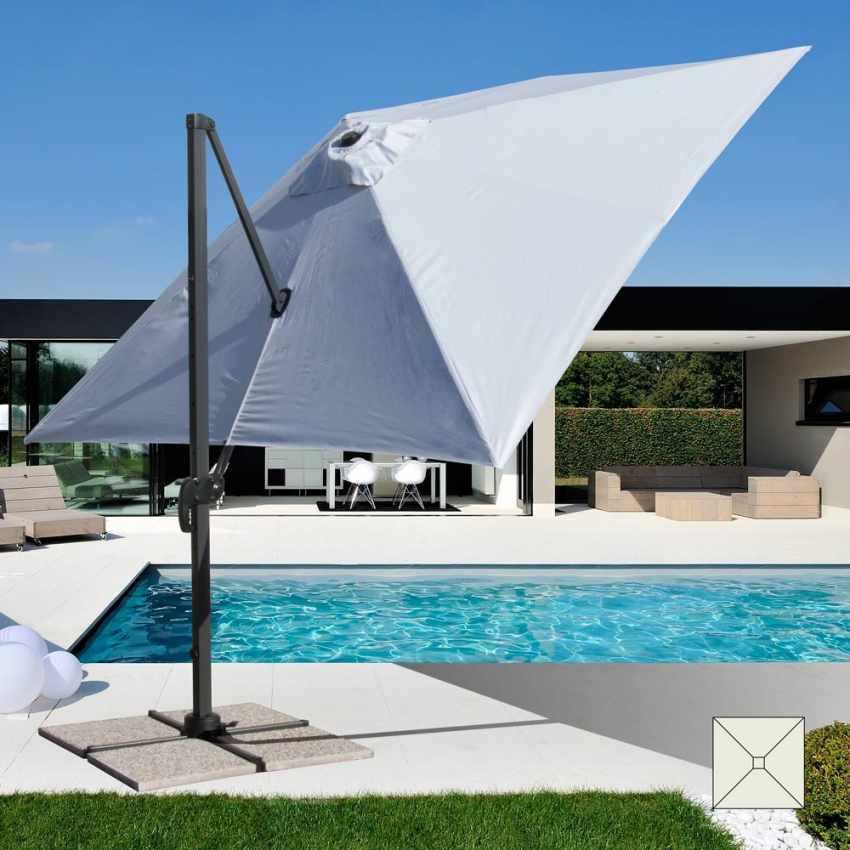Ombrelloni Da Giardino 3x3.Ombrellone Giardino 3x3 Braccio Alluminio Quadrato Paradise