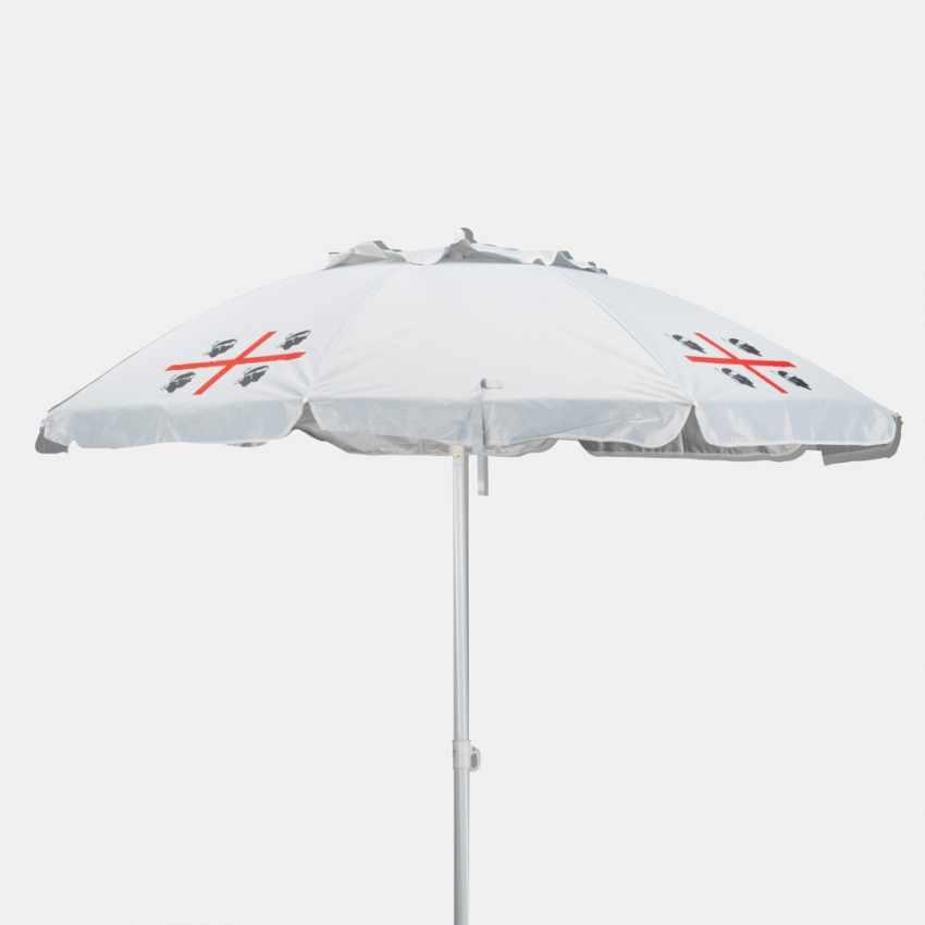 Parasol de plage 200 cm antivent sardaigne QUATTRO MORI - nuovo