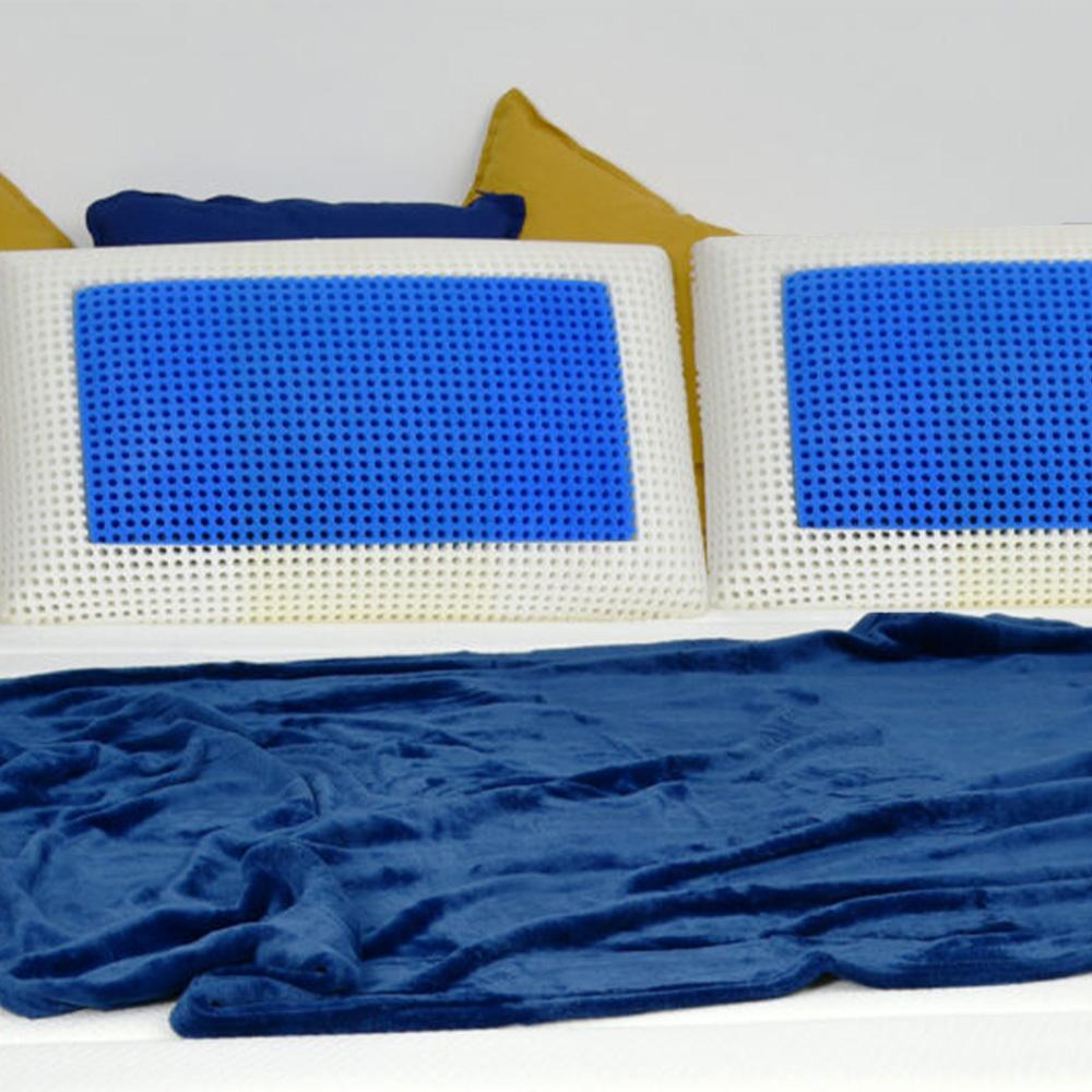 Coppia di cuscini guanciali memory foam cervicale traspiranti Veradea Unico Bis