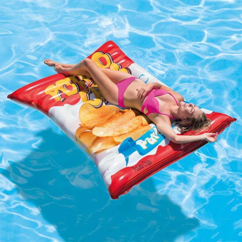 1f21530c918c Intex 58776 materassino gonfiabile CHIPS patatine mare piscina - discount  ...