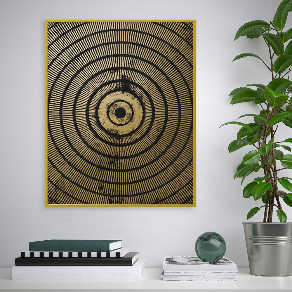 Quadro stampa poster cornice bersaglio illusione ottica 40x50cm Variety Cel
