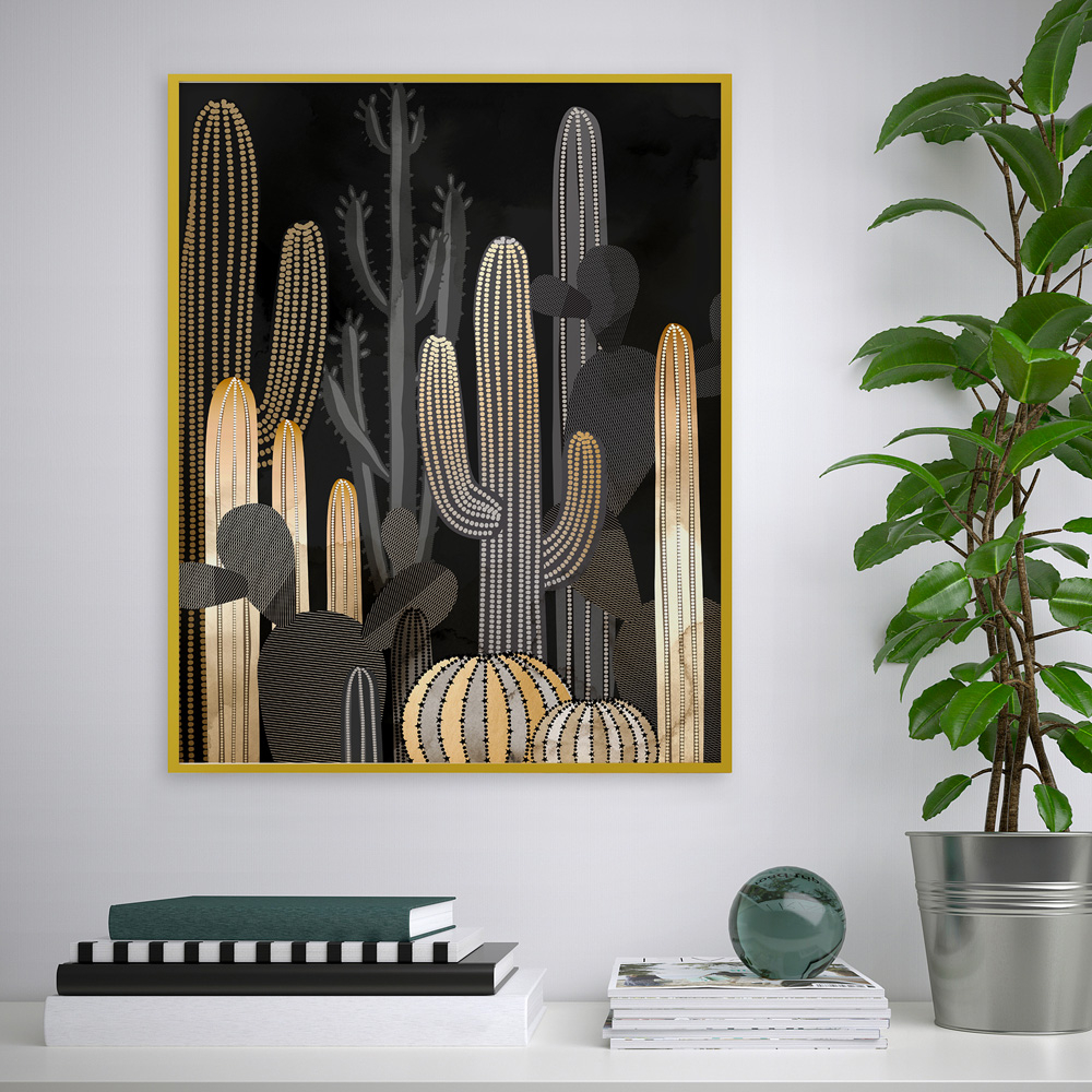 Stampa poster quadro incorniciato deserto cactus 40x50cm Variety Raketa
