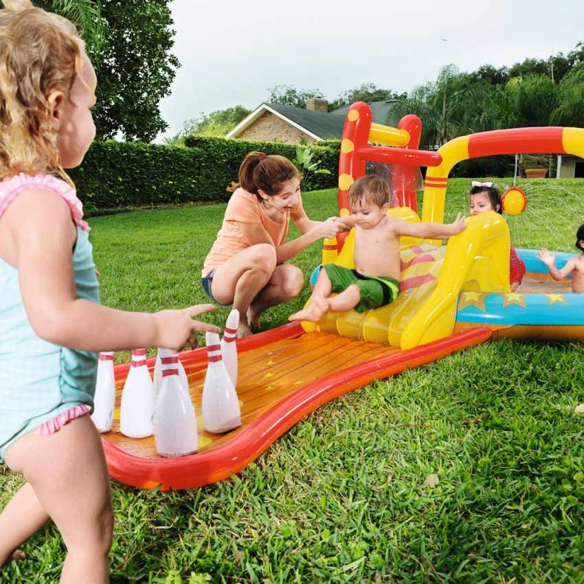 Inflatable kiddie pool for kids with games Bestway 53068 - offerta
