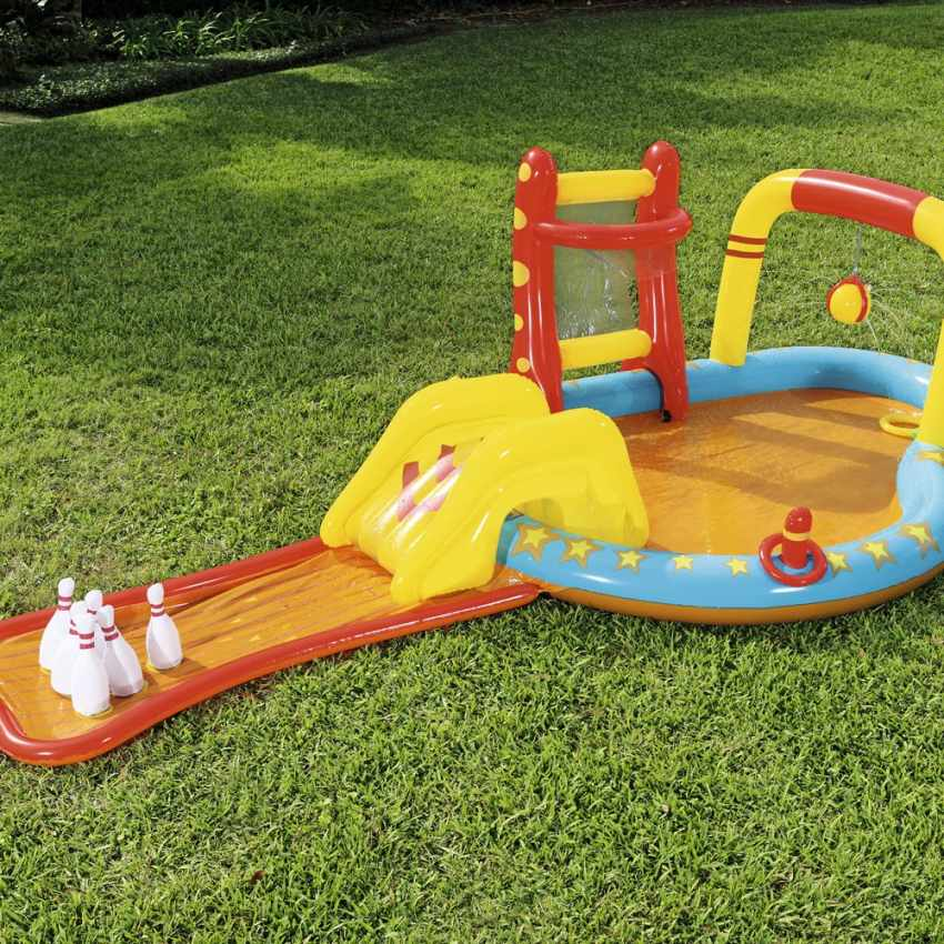 Inflatable kiddie pool for kids with games Bestway 53068 - scontato