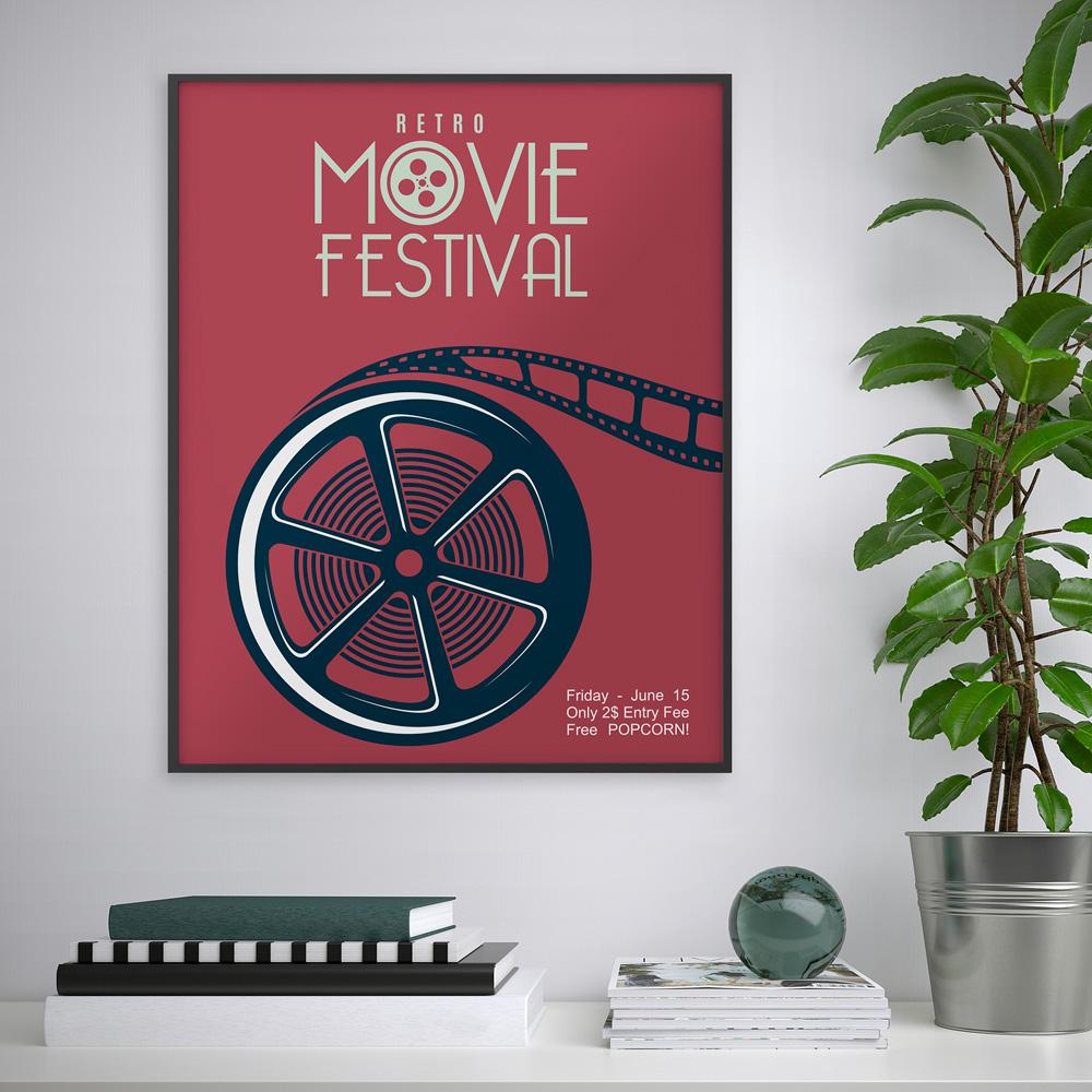 Quadro stampa poster locandina cornice cinema 40x50cm Variety Kinet