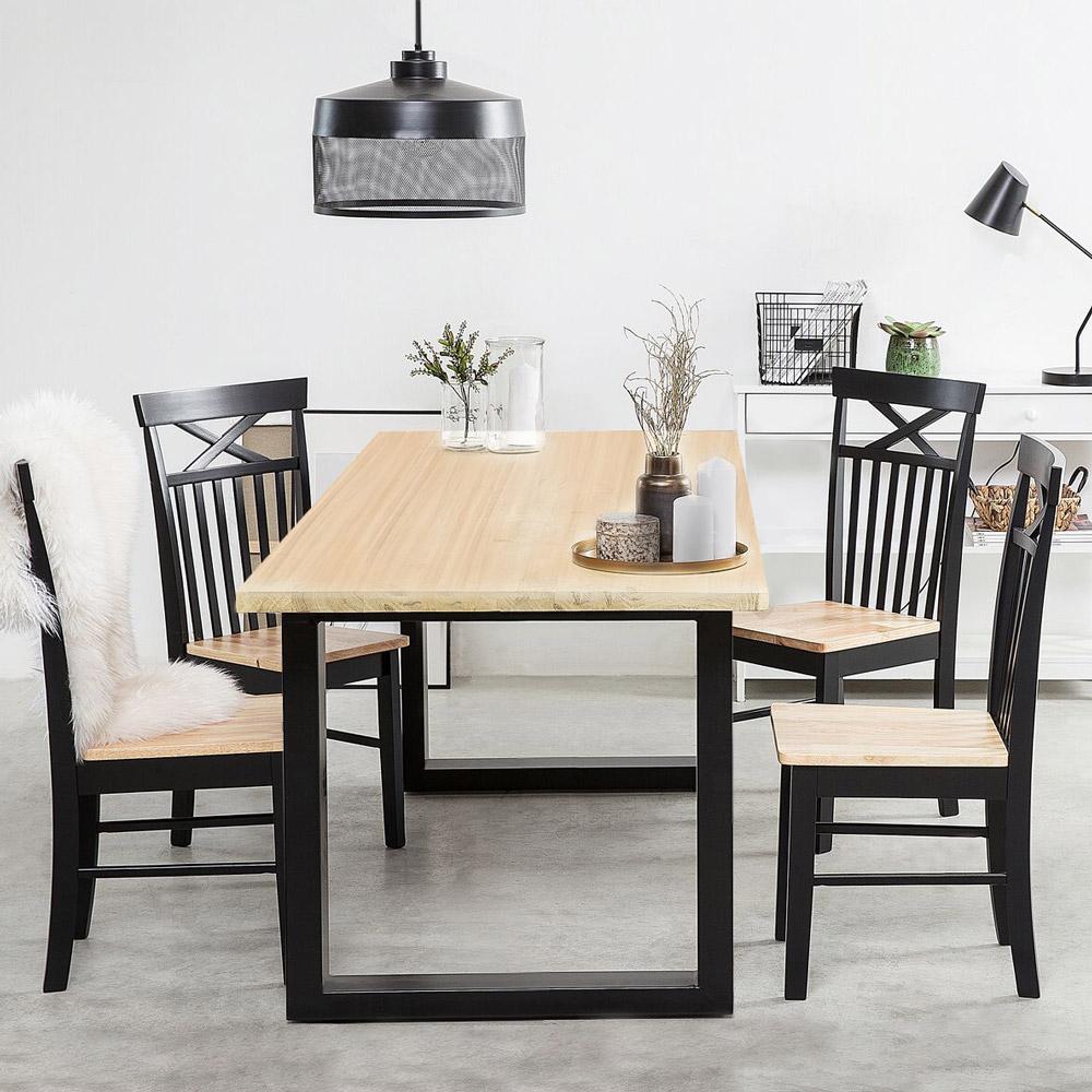 industrial style tables Rajasthan 160 table wood metal legs