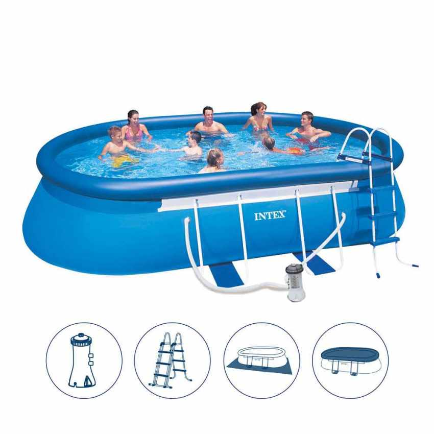 Above Ground Frame Pool Intex 26192 Former 28192 Oval Frame 549x305x107 - new