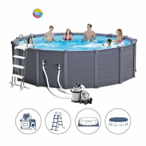 piscine intex 26326 ultra frame hors sol 488x122cm ronde. Black Bedroom Furniture Sets. Home Design Ideas