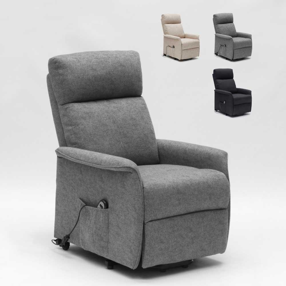 Poltrona relax elettrica reclinabile 2 motori sistema alzapersona per anziani Giorgia+