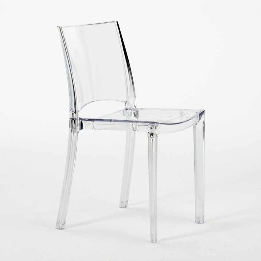 Chaise Transparente Salle A Manger Bar Empilable B SIDE Grand Soleil