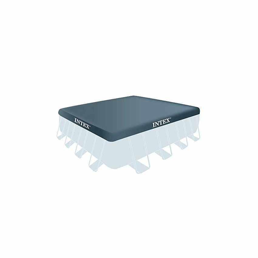 piscine hors sol prism frame carr es 488x488 intex 28766. Black Bedroom Furniture Sets. Home Design Ideas