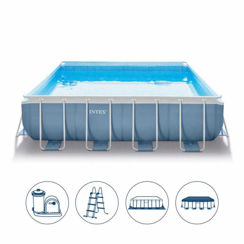 Intex 28766 Piscina fuori terra Prism Frame quadrata 488x488 - new