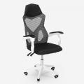 Sedia poltrona gaming ergonomica traspirante design futuristico Gordian