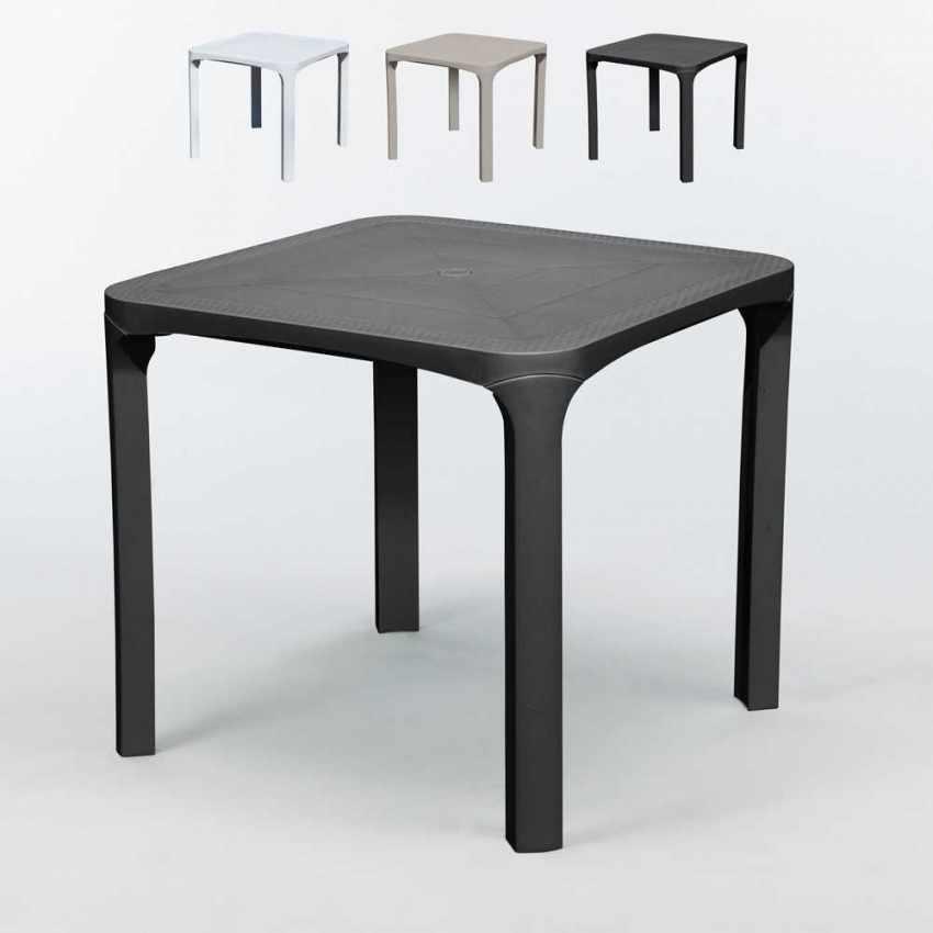 Immagini Tavoli Da Esterno.Tavolo Da Esterni In Polyrattan 80x80 Per Giardino Bar Ole Grand Soleil