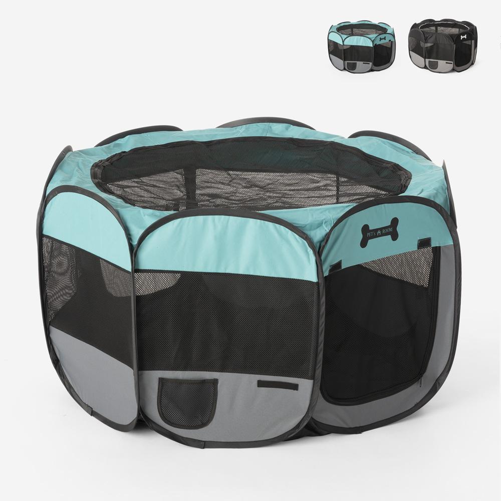 Box animali recinto pieghevole portatile 110x62cm interno esterno Panoramik