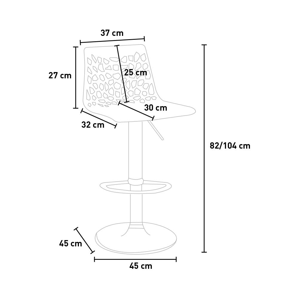 miniature 59 - Tabouret Grand Soleil SPIDER pour bar café cuisine haut fixe