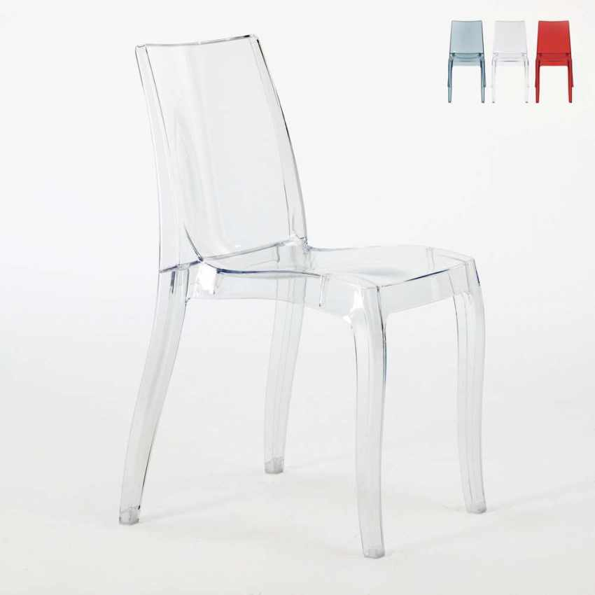Chaise Empilable En Polycarbonate Transparent Pour Salle A Manger
