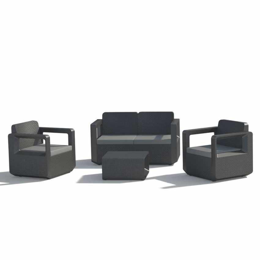 Polyrattan outdoor garden furniture set sofa chairs table VENUS - best