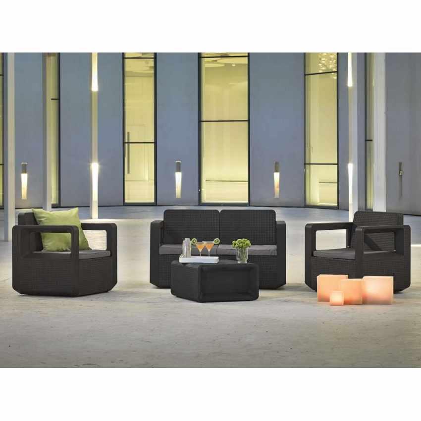 Polyrattan outdoor garden furniture set sofa chairs table VENUS - forniture