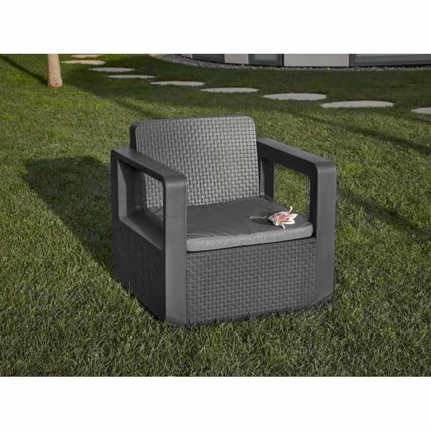 Polyrattan outdoor garden furniture set sofa chairs table VENUS - offert