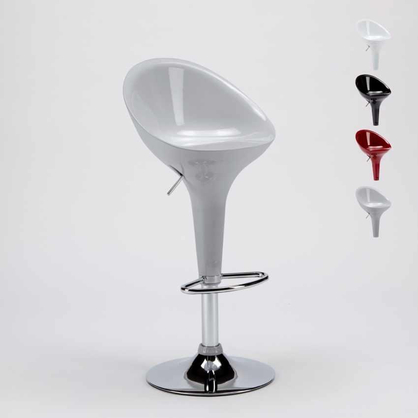 Sgabello Girevole dal Design Moderno per Bar Cucina Altezza Regolabile SAN DIEGO - promo