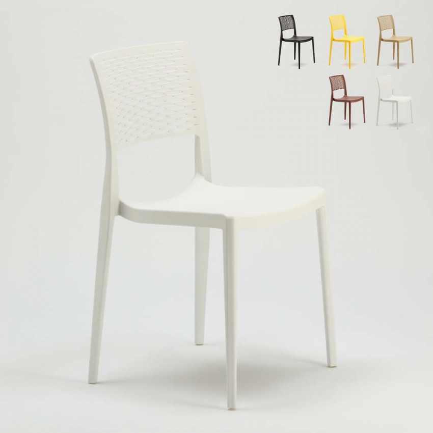 Sedie In Polipropilene Da Giardino.Sedia Da Bar In Polipropilene Per Cucina E Giardino Impilabile Cross