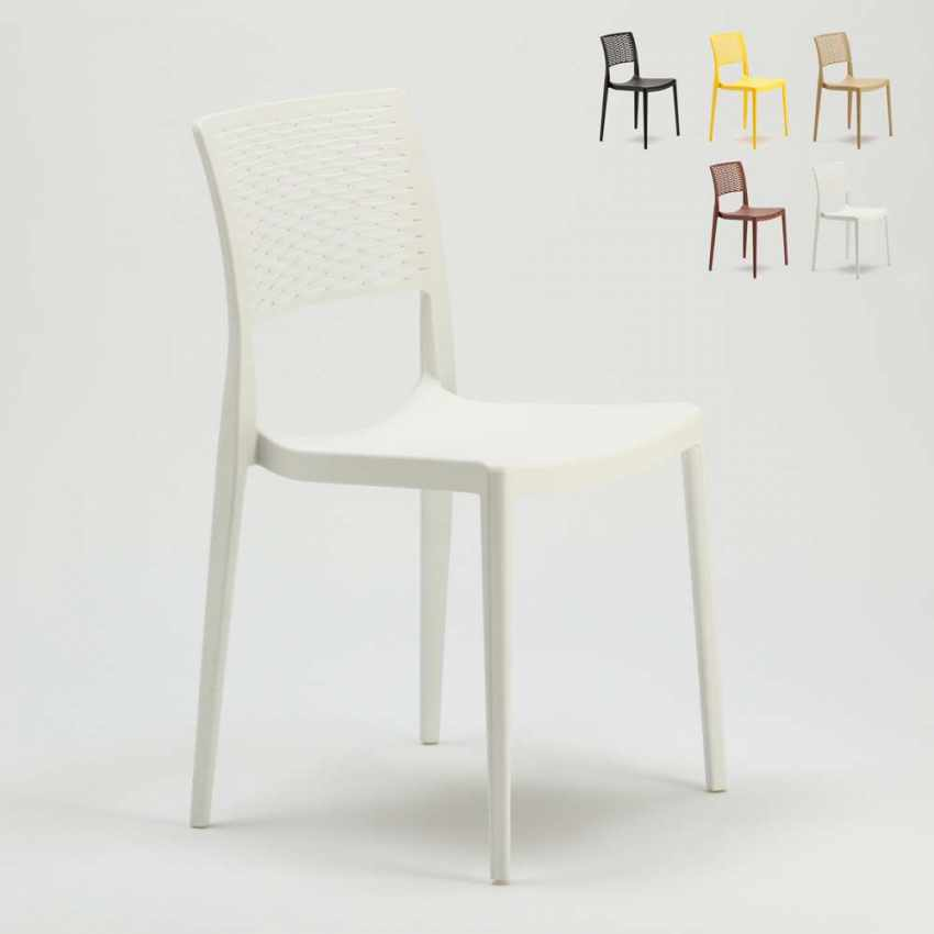 Stackable Chair for Kitchens and Gardens Weatherproof Anti UV CROSS - sales