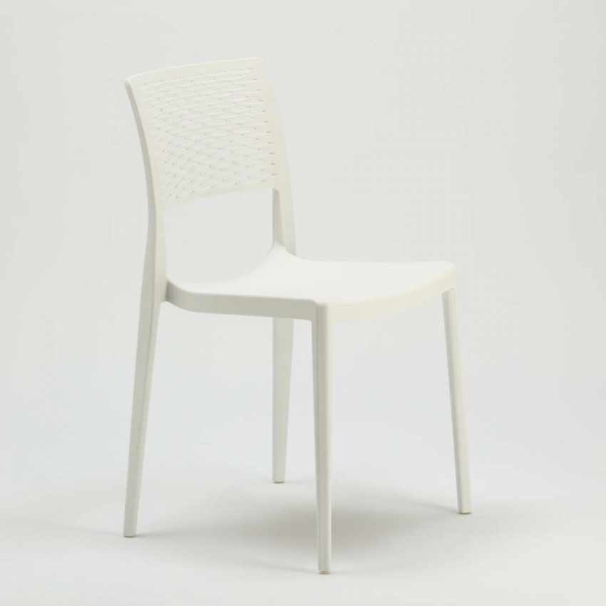 Stackable Chair for Kitchens and Gardens Weatherproof Anti UV CROSS - image