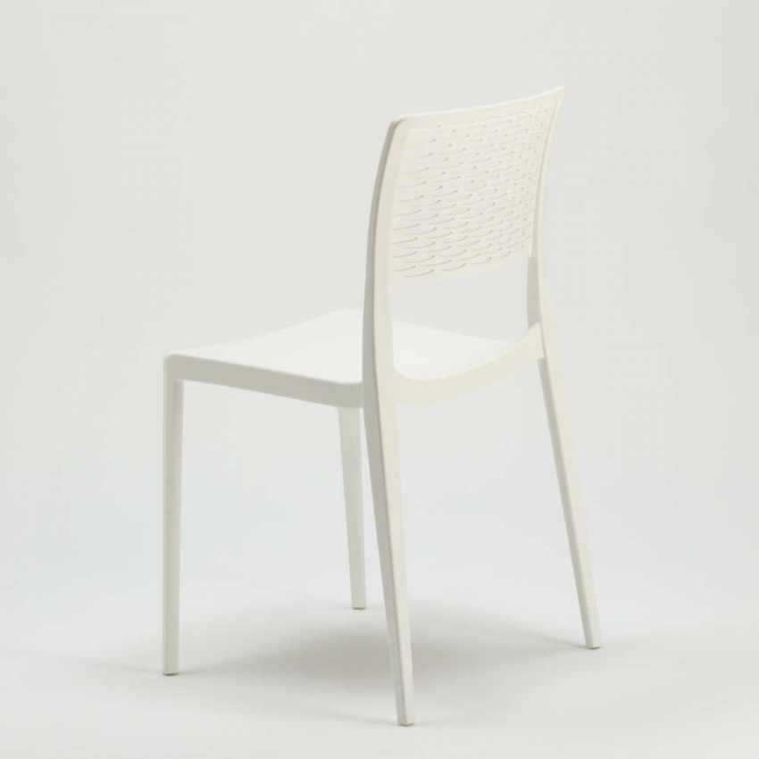 Stackable Chair for Kitchens and Gardens Weatherproof Anti UV CROSS - details