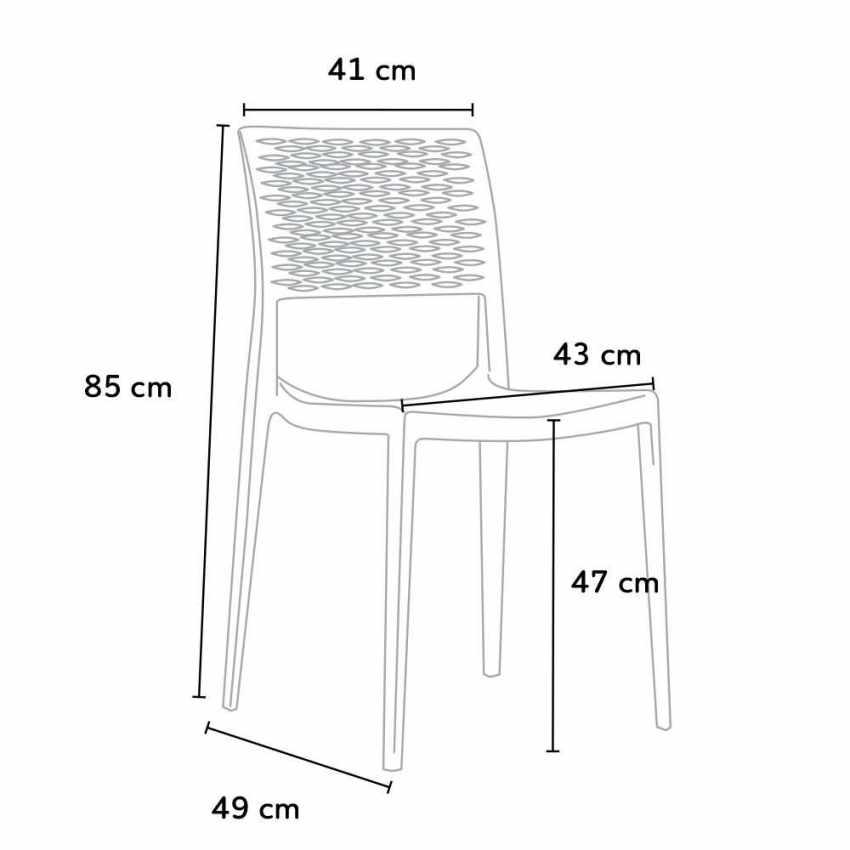 Stackable Chair for Kitchens and Gardens Weatherproof Anti UV CROSS - indoor