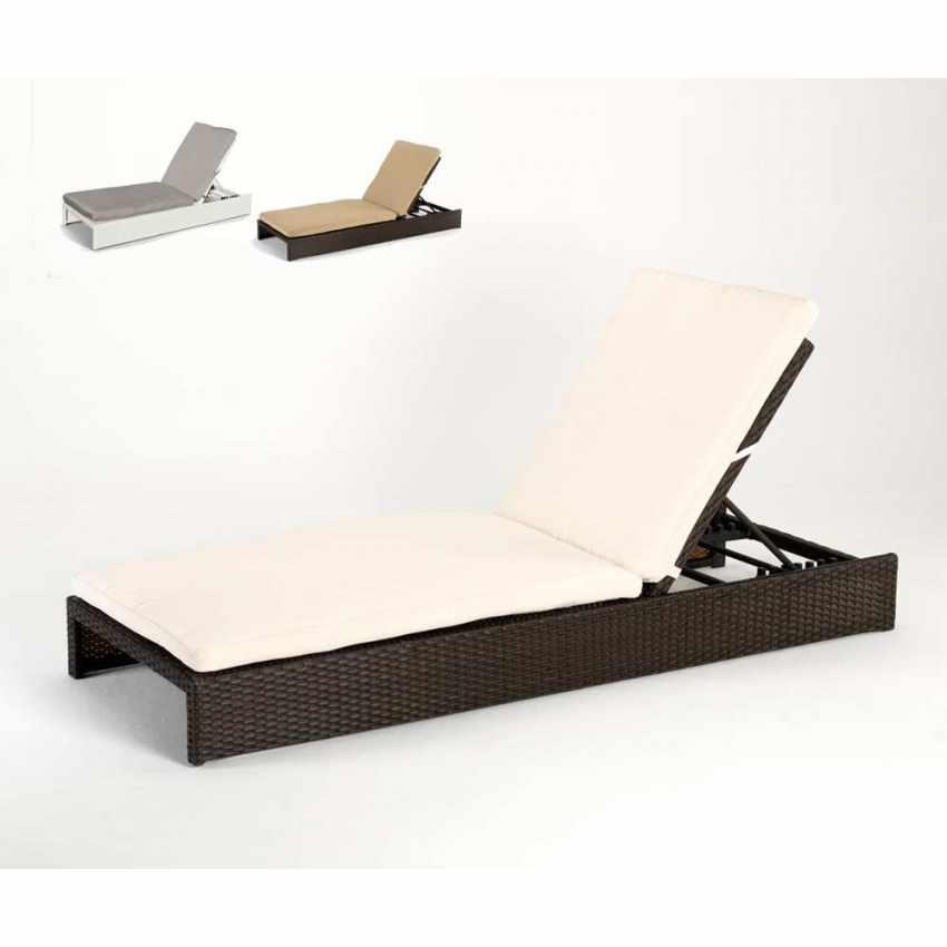 chaise longue bain de soleil pour jardin poly rotin. Black Bedroom Furniture Sets. Home Design Ideas