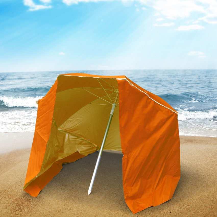 miniature 24 - Parasol de plage portable moto pliable léger aluminium tente 200 cm Piuma