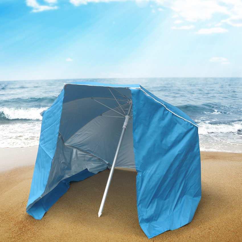 miniature 14 - Parasol de plage portable moto pliable léger aluminium tente 200 cm Piuma