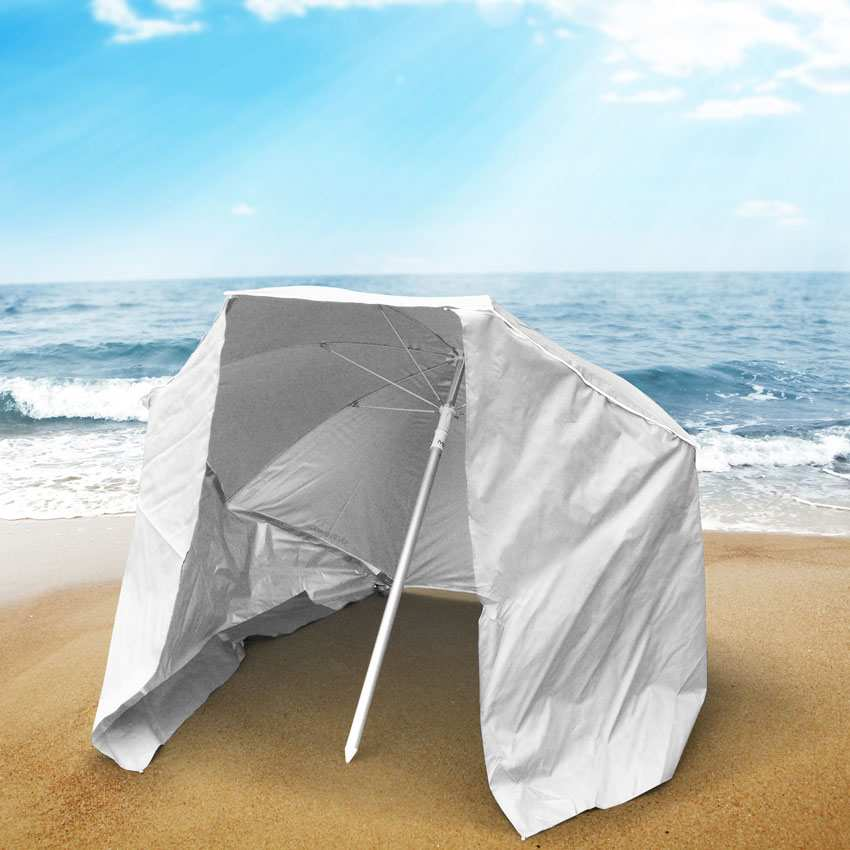 miniature 18 - Parasol de plage portable moto pliable léger aluminium tente 200 cm Piuma